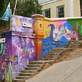 Painted Walls In Valparaiso by Laurel Talabere