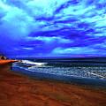 Painterly Beach Scene by Debbie Nobile
