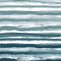 Painterly Beach Stripe 1- Art By Linda Woods by Linda Woods