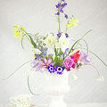 Painterly Homegrown Floral Bouquet by Susan Gary