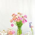 Painterly Ranunculus Tea Time by Susan Gary