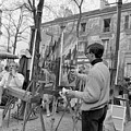 Painters In Montmartre, Paris, 1977 by French School