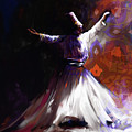 Painting 716 2 Sufi Whirl 2 by Mawra Tahreem