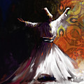 Painting 716 3 Sufi Whirl 2 by Mawra Tahreem