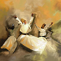 Painting 717 1 Sufi Whirl 3 by Mawra Tahreem