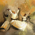 Painting 717 2 Sufi Whirl 3 by Mawra Tahreem