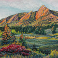 Painting - Boulder Flatirons by Aaron Spong