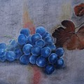 Painting Grapes by Nataliia Fialko