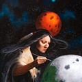 Painting Moons by Michele Bramlett