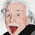 Painting Of Albert Einstein by Setsiri Silapasuwanchai