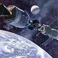 Painting Of Apollo-soyuz Test Project by Everett
