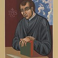 Painting Of Fr Balthasar Gracian Sj 180 by William Hart McNichols