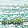 Painting Of Niagara Falls by Garvin Hunter