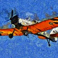 Painting Of Pezetel Aircraft Of Hellenic Air Force by George Atsametakis