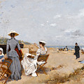 Painting On The Beach  by Francisco Miralles
