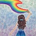 Painting Rainbow by Julianne W