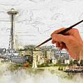 Painting Seattle by Robert Carlsen