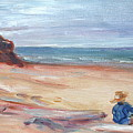 Painting The Coast - Scenic Landscape With Figure by Quin Sweetman