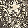 Pair Of Lovers In A Landscape by Albrecht Altdorfer