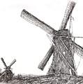 Pair Of Windmills 2016 by Arthur Barnes