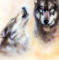 Pair Of Wolves by Jozef Klopacka