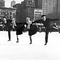Pairs Skating In Central Park by American School