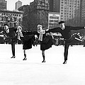 Pairs Skating In Central Park by Underwood & Underwood