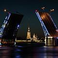 Palace Bridge At Night by Jaroslaw Blaminsky
