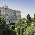 Palacio Real De Madrid And Plaze De Oriente by Ross G Strachan