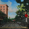 Palafox Street Downtown Pensacola by T S Carson