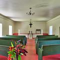 Palapala Ho'omau Congregational Church Interior by Jim Thompson