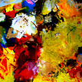 Palette Abstract Square by Michelle Calkins