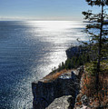 Palisade Head Lake Superior Minnesota Winter Afternoon by Wayne Moran