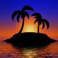 Palm Tree Island by Gravityx9  Designs