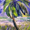 Palm Tree On Windy Beach by Patricia Taylor