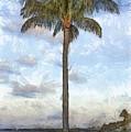 Palm Tree Pencil by Edward Fielding