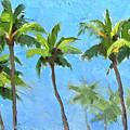 Palm Tree Plein Air Painting by Karen Whitworth