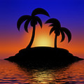 Palm Tree Sunset by Gravityx9 Designs