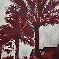 Palm Trees Acrylic Modern Art Painting by Derek Mccrea