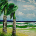 Palm Trees In The Wind by Lian Zhen