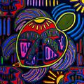 Palm Turtle Mola by Patti Schermerhorn