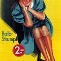 Palmers - Halb-strumpf - Vintage Germany Advertising Poster by Studio Grafiikka