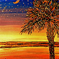 Palmetto Sunset  by Patricia L Davidson