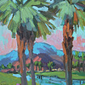 Palms And Coral Mountain by Diane McClary
