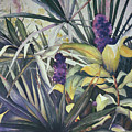 Palms And Hyacinths by Leah Wiedemer