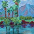 Palms And Reflections by Diane McClary