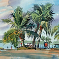 Palms On Sanibel by Donald Maier
