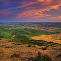 Palouse Skies Ablaze by Mike  Dawson