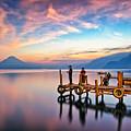 Panajachel Pier At Sunset, Lake Atitlan, Guatemala by Sam Antonio Photography