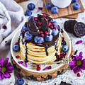 Pancakes With Chocolate Sauce by Daniela Ruppert